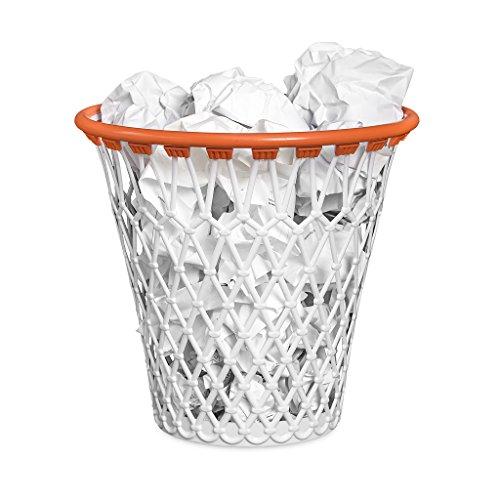 Balvi-BasketPapelera condisenoDivertidodeCanastadeBaloncesto ColorBlanco FabricadoenplasticoMuyResistente