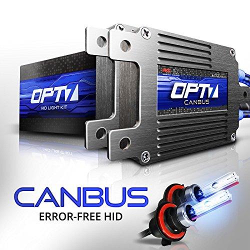 OPT7 Boltzen AC CANbus 9007 Bi-Xenon HID Kit - 5X Brighter - 6X Longer Life - All Bulb Sizes and Colors - 2 Yr Warranty [6000K Lightning Blue Light]