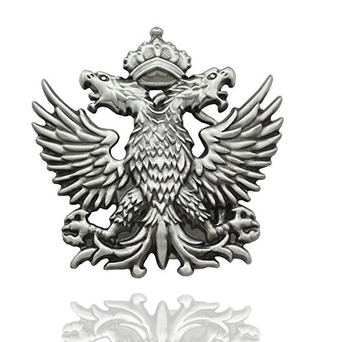 Q&Q Fashion Men Western Silver Russian Imperial Double Eagle Crown Cowboy Belt Buckle Gift