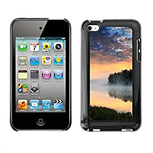 Soft Silicone Rubber Case Hard Cover Protective Accessory Compatible with Apple IPod Touch 4 - Nature Lake Mist