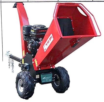 Wood Chipper Cutter Leaf Mulcher Shredder 5 Inch Capacity, Adjustable  Deflector Vane Discharge Chute, 15HP Gas Power 4 Stroke Motor 420cc 1 Year