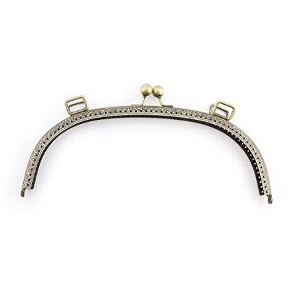 RUBY - Boquilla para bolsos Cierre de boquilla para bolso Cierre monederos boquilla de bolso para Patchwork (Bronce, 24cm)