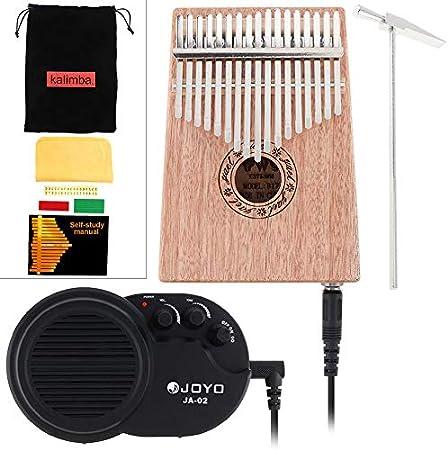 Piano de 17 teclas con amplificador Mbira, mini instrumento ...