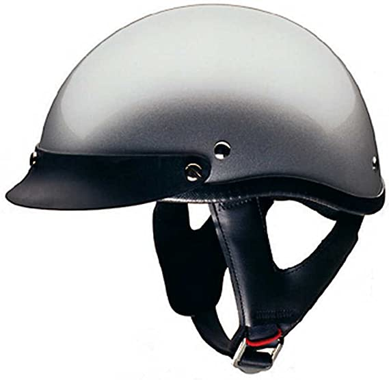 f7e93885 Amazon.com: HCI Silver Motorcycle Half Helmet with Visor - ABS Shell ...