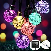 Guirlande Lumineuse Solaire, OMERIL 50 LED Guirlande Lumineuse Couleur Extérieure et Interieur IP65 Etanche 8 Modes, USB...