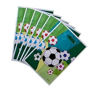 YeahiBaby 24 Pcs Sacs de Cadeau de Fête de Football | Sacs de Bonbons de Papier de PE de Football, faveur de Fête D… 7