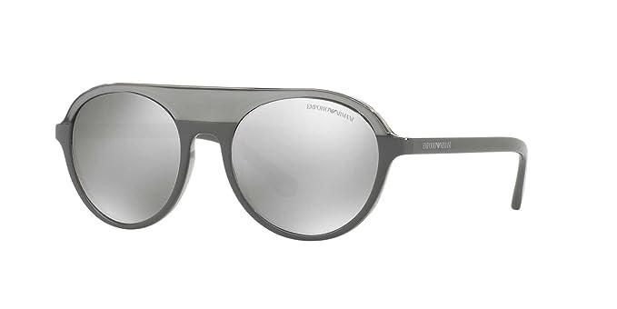 Emporio Armani 4067, Gafas de Sol Unisex, Transparente Grey 55216G, 54