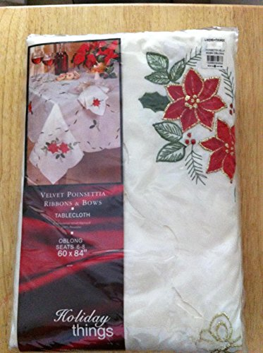 linens-n-things-velvet-poinsetta-ribbons-and-bows-christmas-tablecloth-nos-60-x-84-oblongtype-tablec