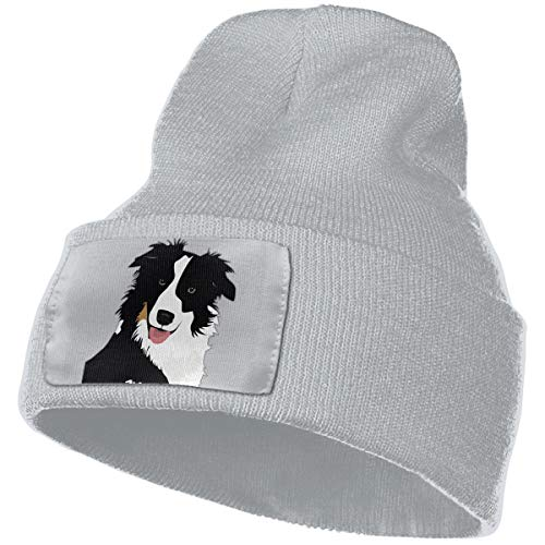 Border Collie Winter Beanie Hat Knit Woolen Cap For Men & Women