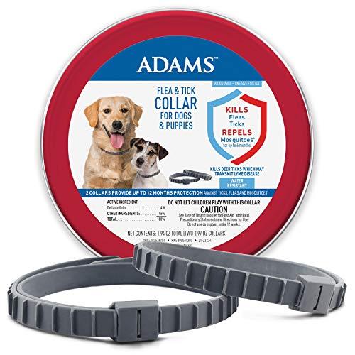 Adams Flea & Tick Collar for Dogs & Puppies 2 Pack