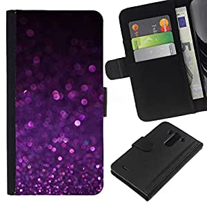 All Phone Most Case / Oferta Especial Cáscara Funda de cuero Monedero Cubierta de proteccion Caso / Wallet Case for LG G3 // Purple Shiny Dust Sparkling