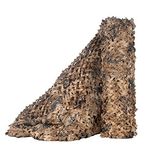 LOOGU Bulk Rolls of Camouflage Netting for Photography Background Camo Decorative Net and Hunting Blinds (Desert Digital, 1.5x20M=5x65.6ft)