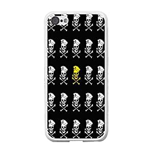Custom Designed Unique Hard Plastic Protective Mobile Phone Case Cover for Iphone 5c (pirate skull BY816)