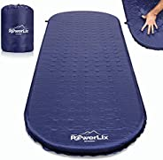 Powerlix Sleeping Pad – Self-Inflating Foam Pad Insulated 3inches Ultrathick Mattress for Camping, Backpacking