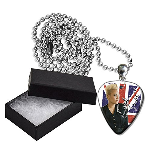 Emeli Sande Flag Style Metal Guitar Pick Necklace Chain