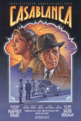 Casablanca Poster F 27x40 Humphrey Bogart Ingrid Bergman Pau