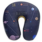 Solar System Memory Foam Neck Support U-shaped Neck Pillow