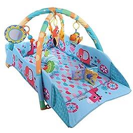 Alfombra infantil para bebés azul Tosbess