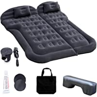 Car Inflatable Mattress with Pump, Portable SUV Air Bed for Camping, Home, Travel, Hiking, Full Size Blow Up Sleeping…