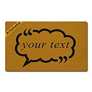 "Artsbaba Personalized Your Text Doormat Cloud Doormats Monogram Non-Slip Doormat Non-woven Fabric Floor Mat Indoor Entrance Rug Decor Mat 30"" x 18"""