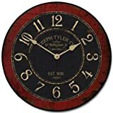 Bellingham Red Wall Clock, Available in 8 sizes, Whisper Quiet, non-ticking offers