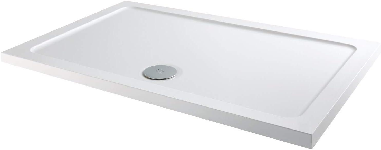 Slim Line - Plato de ducha rectangular (1800 x 900 mm): Amazon.es ...