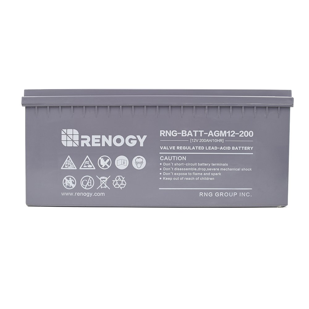Renogy Deep Cycle Agm Battery 12 Volt 200ah For Rv Batterycharging Discharging Circuit Used In Laptop Applications Solar Marine And Off Grid Electronics