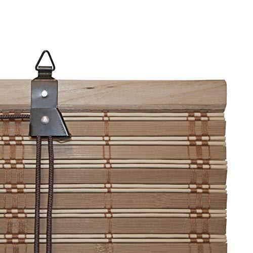 ALEKO BBL36X64BR Bamboo Roman Up Shades 36 X 64