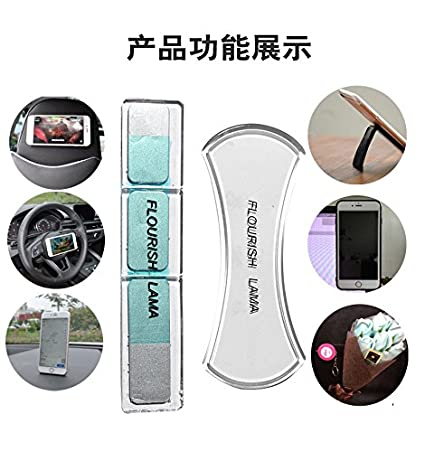 black Metal Mirrors Fixate Gel Pads 2 PACK Premium Cell Pads,Universal Sticky Anti-Slip Dashboard Mat Stick to Glass Car GPS and many more Whiteboards Kitchen Cabinets or Tile