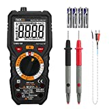 TACKLIFE Multimeter, Digital True RMS 6000 Counts Digital Ohmmeters, Measures Voltage, Current, Resistance, Continuity, Capacitance, Temperature, AC/DC Voltage with LCD Backlight