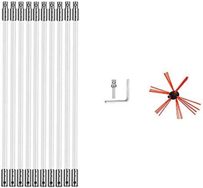 10 M con De Natural Sroomcla Chimenea Barrido Taladradora Brush-Electrical Kits De Herramienta De Limpieza con Varillas De Nailon Flexible Herramientas De Limpieza De Barrido con Accionamiento 8 M