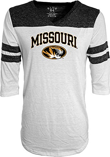 Missouri Tigers Womens 3/4th Sleeve Tshirt - L - White