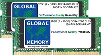 32GB (2 x 16GB) DDR4 2666MHz PC4-21300 260-PIN SODIMM ...