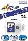 MAXFLASH Action 16GB Micro SD Memory Card SD16GTFCL10M-A