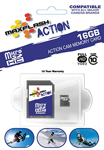 MAXFLASH Action 16GB Micro SD Memory Card SD16GTFCL10M-A