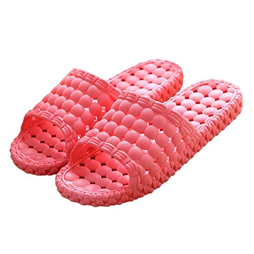 Donne Mens Di Matari Bagno Interno Doccia Solido Scivolo-su Pantofole A Bordo Piscina Scarpe Rosso Anguria