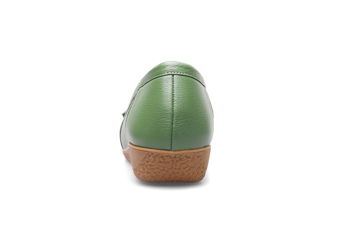 Damen Flats Loafer Single Schuhe Neue Freizeit Loafer Flats Komfort Echtes Leder Pumps Anti-Rutsch Soft Bottom Schwarz Herbst Frühling Party Work e7acac