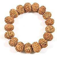Certified 7 Mukhi Rudraksha Bracelet, 7 Face rudraksha Bracelet Unisex Bracelet for Men and Women, Seven Mukhi Rudraksha Bracelet