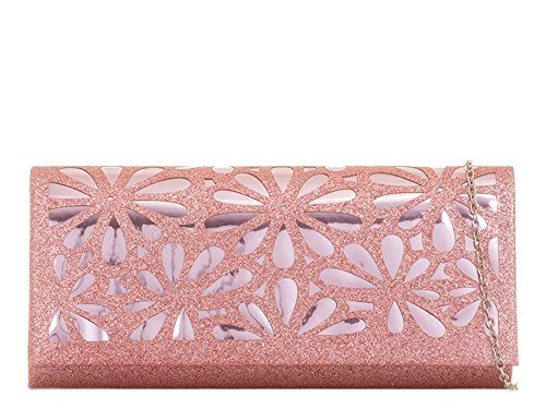 rose femme Pochette grand Hautefordiva Silver pour B7qzvS