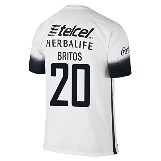 3c9eb904f Amazon.com  NIKE Britos  20 Pumas UNAM 2016 Stadium Third Jersey ...