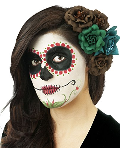 Day Of The Dead Male Makeup Kit (Woochie by Cinema Secrets Day Of The Dead Makeup Kit - Red, Multi, One Size)