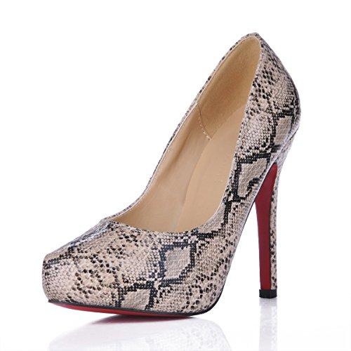 gris de de chaussures fine banquet de chaussures haut peau la réformateur femmes le talon sens les Gray femmes serpent Seul l'automne grand 4qwOZxCSn