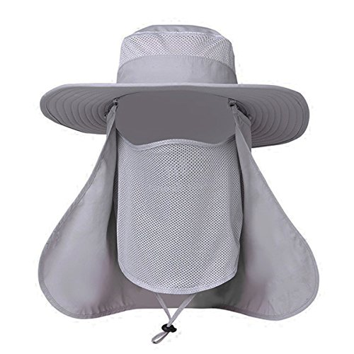 b29d33a1 EINSKEY Fishing Sun Hat with Removable Neck Face Flap, Sun ...
