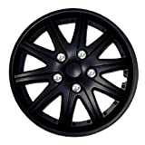 1987 chevy caprice hub caps - TuningPros WSC-027B15 Hubcaps Wheel Skin Cover 15-Inches Matte Black Set of 4