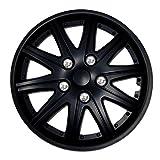 2002 buick lesabre rims - TuningPros WSC-027B15 Hubcaps Wheel Skin Cover 15-Inches Matte Black Set of 4