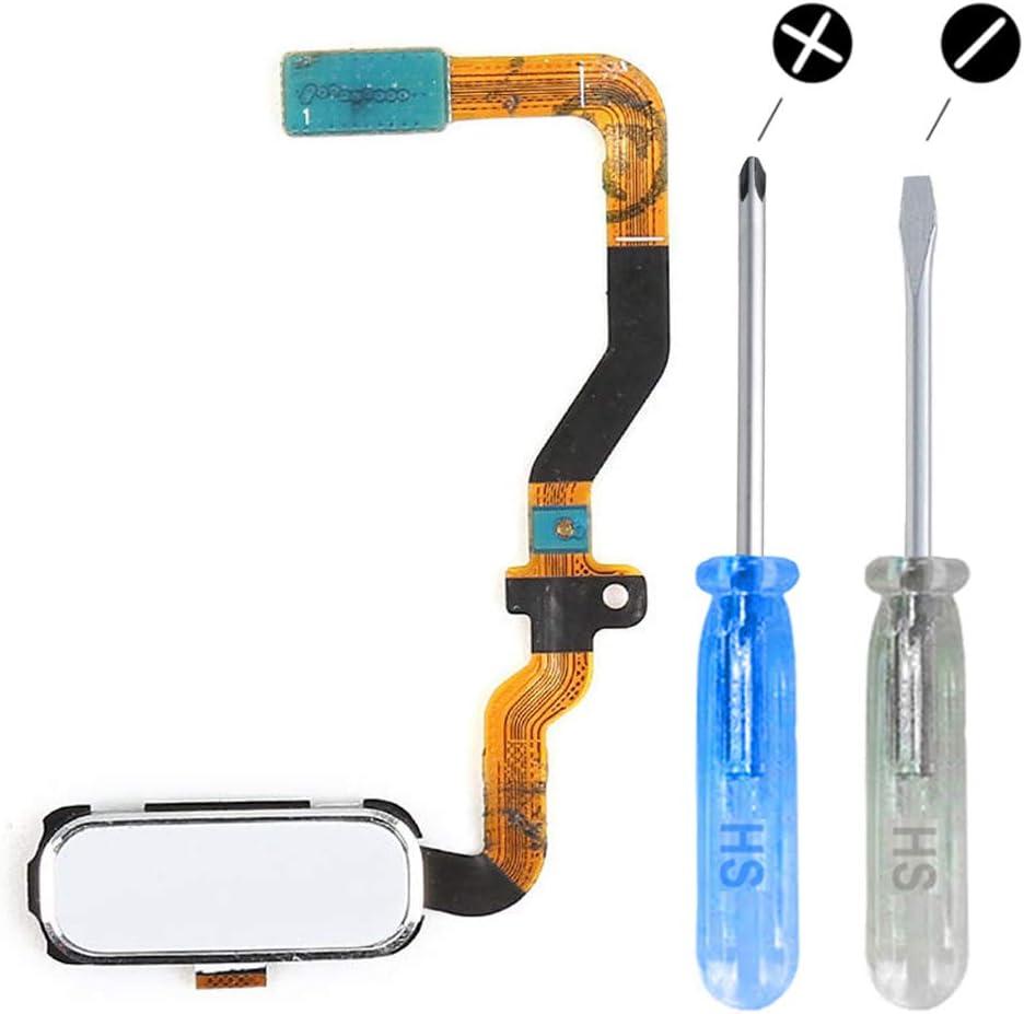 MMOBIEL Home Button Key Fingerprint Sensor Flex (White) Compatible with Samsung Galaxy S7 G930 incl. Tools