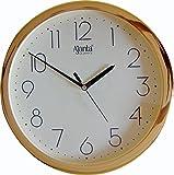 Ajanta Quartz Plastic Wall Clock (26.2 cm x 26 cm x 3.8 cm, Ivory)