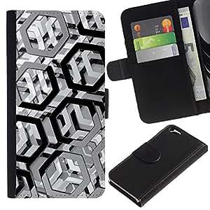 UNIQCASE - Apple Iphone 6 4.7 - Metal Pattern - Cuero PU Delgado caso cubierta Shell Armor Funda Case Cover