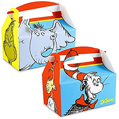 BirthdayExpress Dr Seuss Party Supplies - Empty Favor Boxes (4): Toys & Games