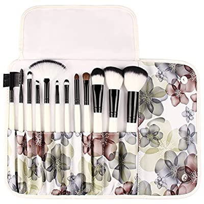 UNIMEIX 12Pcs Makeup Brush Set Synthetic Kabuki Comestics Foundation Blending Blush Eyeliner Face Powder Brush Comestic Tool …